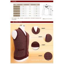 Gilet Yak en laine / cachemire à col en V pour hommes / Vêtements / Tricots / Vêtements