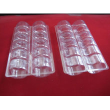 Macaron caja de embalaje de plástico