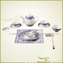 Chines Stained Ceramic Blue Conjunto Enchantress
