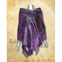 Mantón viscosa de la bufanda del pashmina con diseño del jaquard
