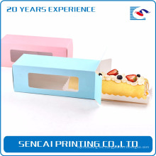 Pastel Sencai ablong caja de papel de embalaje