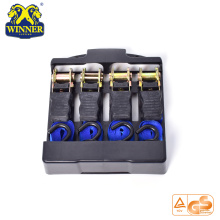 4PC 1 tums Paket Ratchet Tie Down Lastrem