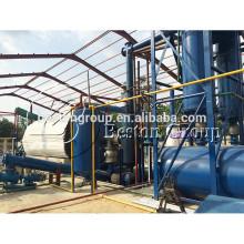 Raffinage de pneus sans pollution usine de pyrolyse de 20 tonnes