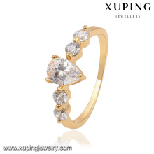 13836-Xuping Classic Design Crystal Waterdrop Wedding Ring