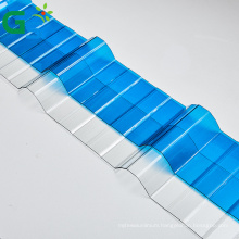 0.8mm Polycarbonate Transparent Corrugated Roofing Sheets For Home Greenhouse Making  4x8