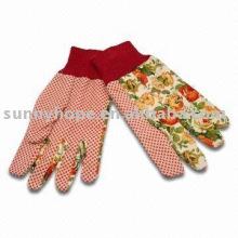 Цветная садовая перчатка