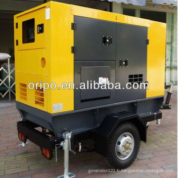 Générateur de remorque 30kva diesel avec tête de générateur alternateur de 1800 rpm