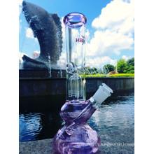Nouvelle arrivée 10 '' Four Arm Tree Downstem Water Pipe 7mm Epaisseur, Inline Percolator Glass Pipes