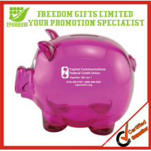 Promotional Transparent Plastic Piggy Bank