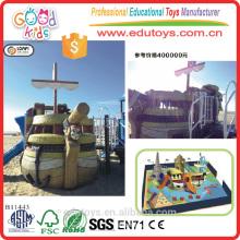B11443 Brinquedos de praia Pirate Ship Playground, Outdoor Amusement Equipment