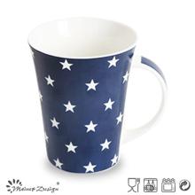 Tasse de café de forme différente de couleur bleue cinq étoiles