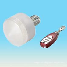 Venta caliente RGB 5-6w e27 ip33 de la fabricación de China 7-10 metros de la luz llevada con pilas teledirigida llevada