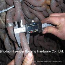 Cadena de polipasto calibrado de acero soldado para la elevación o la pesca marina