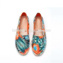 2016 newest design women canvas shoes espadrille