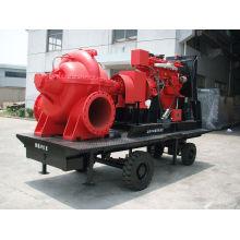 Doppel-Sucton-horizontale Split-Gehäuse-Zentrifugalpumpe-einstufige tragbare Pumpe