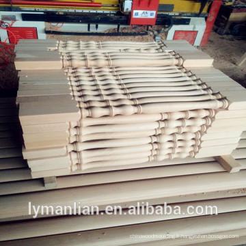 balustre en bois / main courante en bois