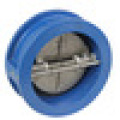 Resilient seat dual plate Wafer check valve
