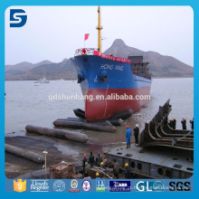 Bolsa a ar marinha de borracha do salvamento inflável para o lançamento do navio