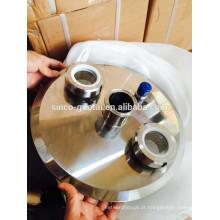 304 316 tampas de tampa de extremidade tri-clamp sanitária de aço inoxidável