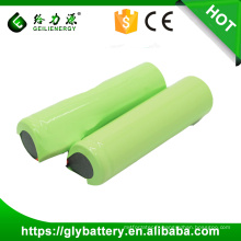 Usine wholeslae bas prix rechargeable li-ion batterie 3.7v cellule 18650-2200mah
