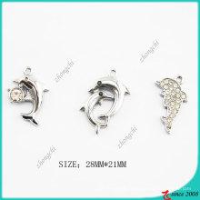 Charme de dauphin en métal pour la fabrication de bracelet de bijoux