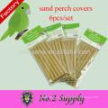 Venta caliente de papel de grava de protección del medio ambiente 6-Pack arena percha cubre suministros de aves de compañía