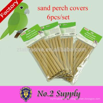 Vente chaude protection de l'environnement papier gravier 6-Pack sable perche couvre les fournitures d'oiseaux de compagnie