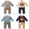 Infant spring outwear soft baby onesie baby fleece romper with long sleeve