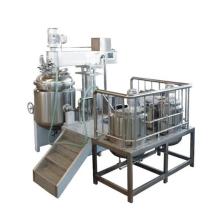 Emulsión de alto cizallamiento con homogeneizador y mezclador