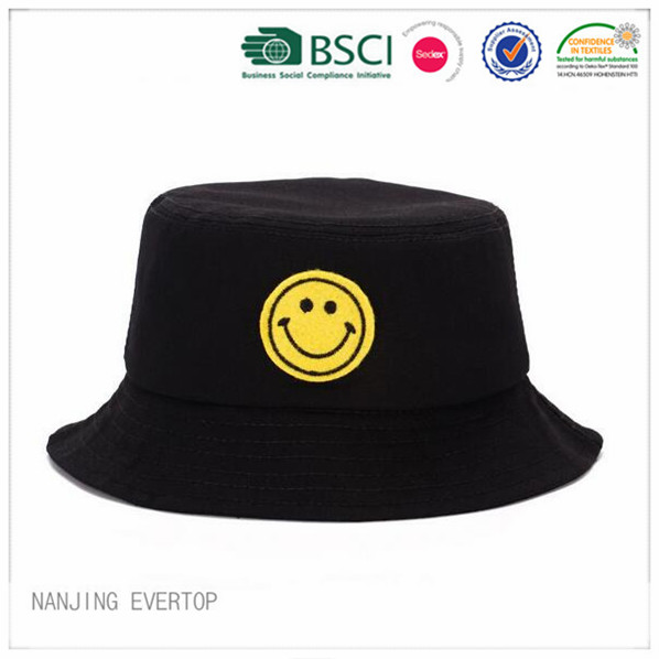 Promotional Black Patch Bucket Hat