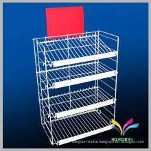 High quality supermarket floor stand multi tiers display rack metal stand