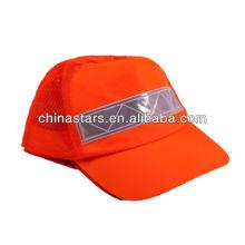Casquette de sécurité haute visibilité avec ruban réfléchissant en PVC