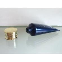 Chapeamento de tampa de rosca com tubo flexível para embalagens de cosméticos