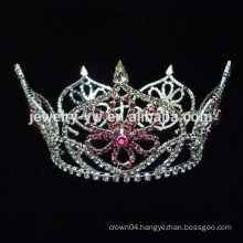 manufactory colored red AB rhinestone wedding crown tiara