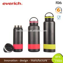 18oz Powder Coated Edelstahl Wasserflasche / Edelstahl Wasserflaschen mit Kunststoff Top