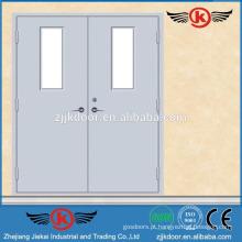 JK-F9007 porta de fogo de folha dupla com porta de vidro à prova de fogo