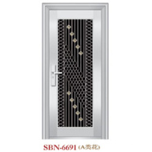 Puerta de acero inoxidable para exteriores (SBN-6691)