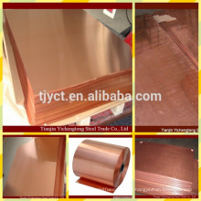 high quality hot rolled red Copper plate/sheet mill prices