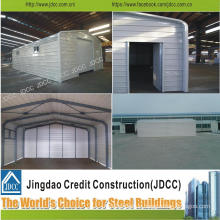 Light Steel Structure Portal Framed Structure Car Garage