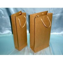 Bolso de compras personalizado, bolso de compras de calidad superior, bolsa de papel en diverso tamaño con el logotipo Pritning
