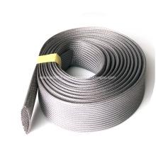 Серая расширенная плетеная труба