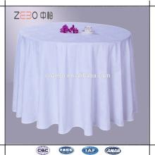 Hot vendendo poliéster tecido branco jacquard barato mesa de jantar roupas