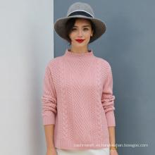 Suéter hecho punto de la cachemira de seda de la alta calidad Diseño suave del suéter de la sensación de la mano