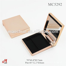 Luxury magnetic blush compact case with mirror