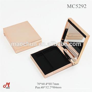 Étui compact à miroir magnétique de luxe avec miroir
