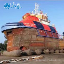 Marine rubber airbags for ship launching in Indonesia