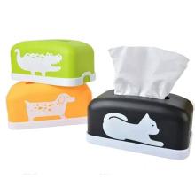 Cartoon Animal Design Plastic Tissue Box (ZJH013)