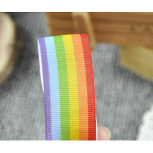 Rainbow Grosgrai Ribbon 7094 Cake Bow Hair Dummy Clips