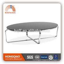 CT-19A stainless steel glass modern coffee table