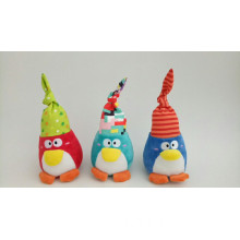 Penguin Rattle Plush Toy with Three Colors